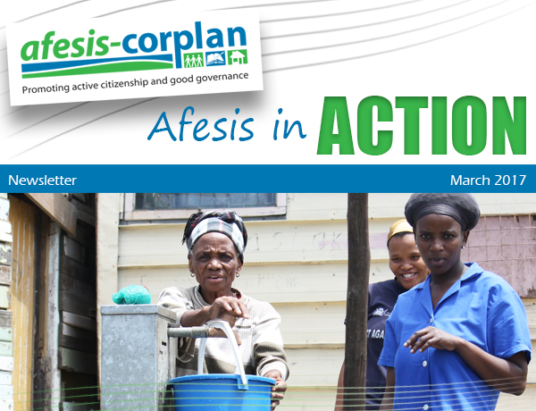 MARCH 2017 NEWSLETTER: Afesis in Action March 2017