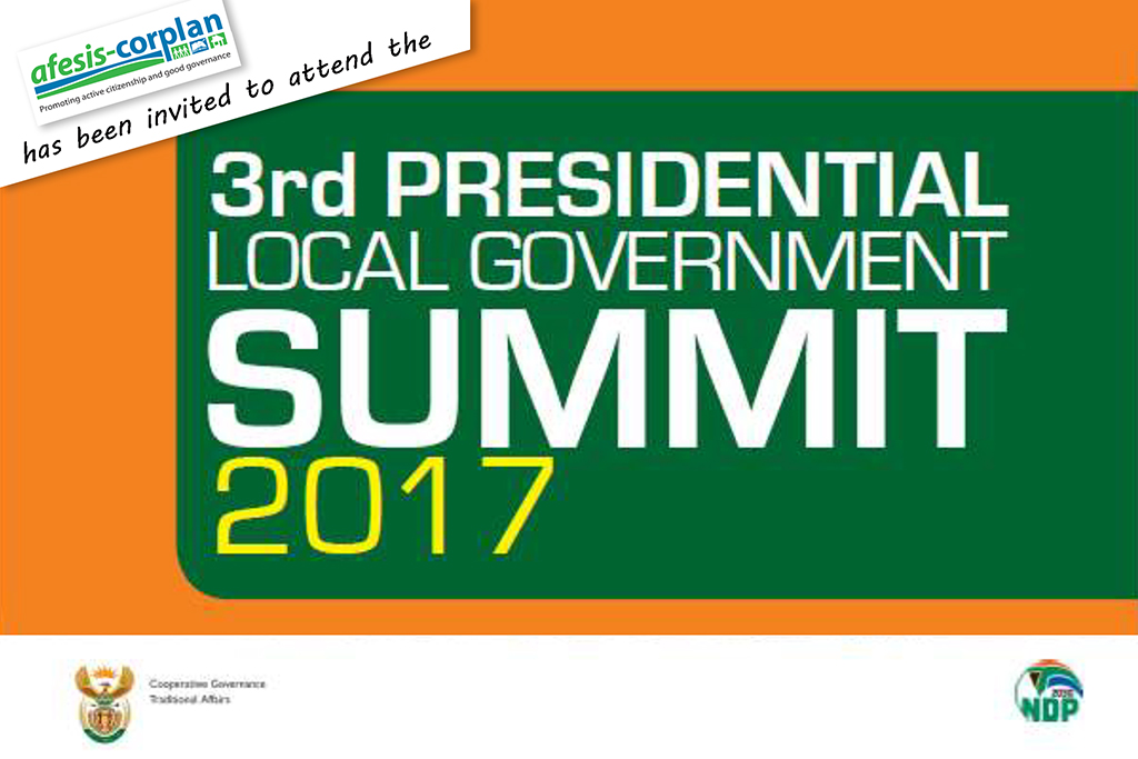 3rd Presidential Local Government Summit 6 -7 April 2017