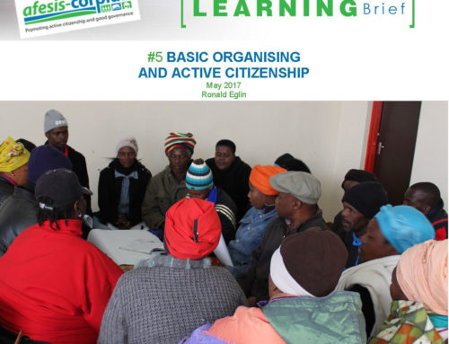 Learning Brief #5: Basic Organising and Active Citizenship