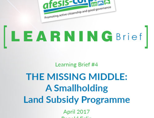 Learning Brief #4 The Missing Middle: A Smallholding Land Subsidy Programme