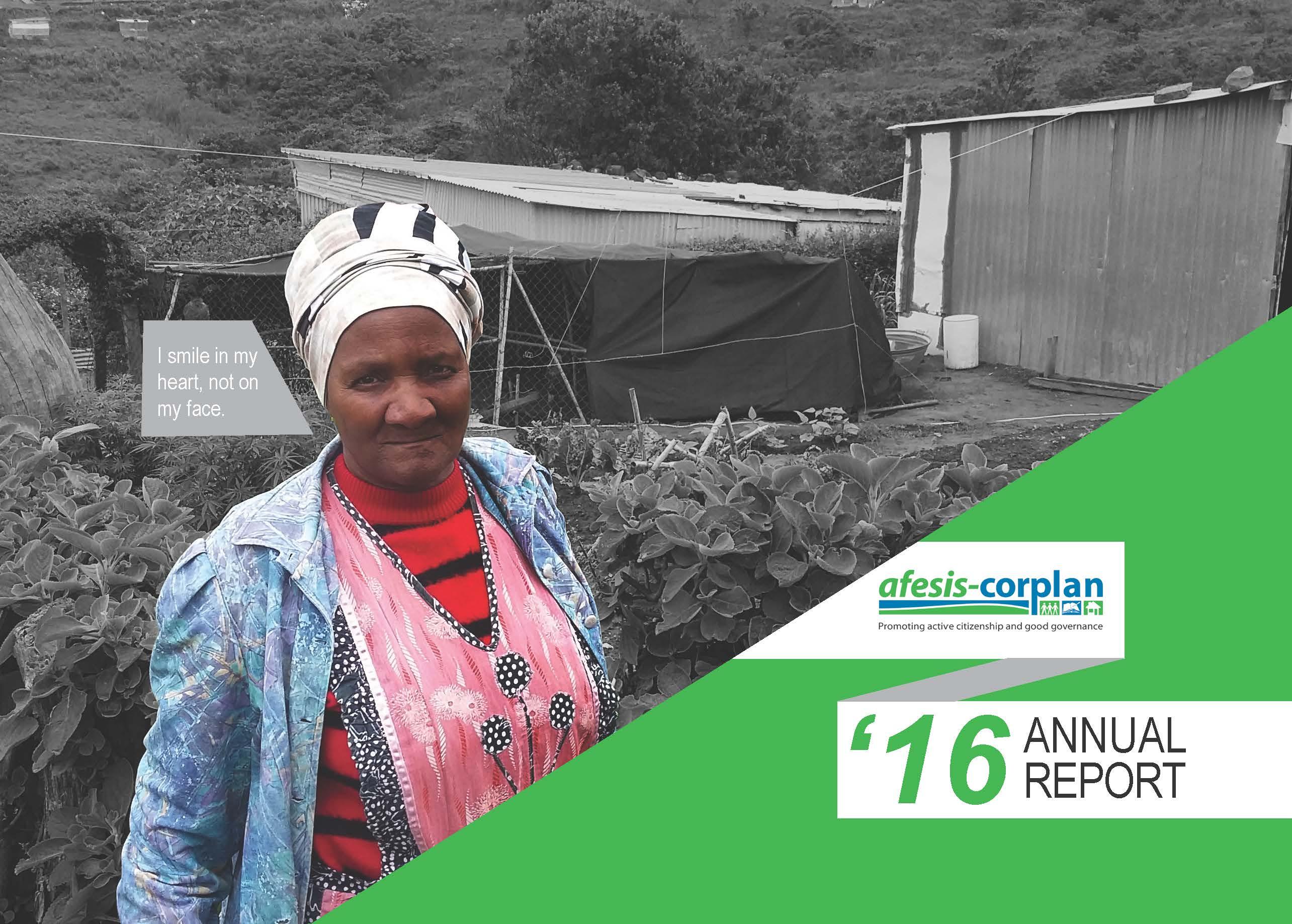 Afesis-corplan Annual Report 2016