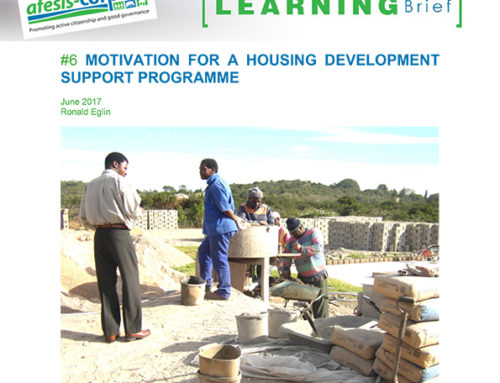 Learning Brief #6: Motivation for a housing development support programme