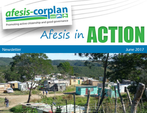 JUNE 2017 NEWSLETTER: Afesis in Action June 2017