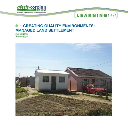 Learning Brief #11: Creating quality environments – Managed Land Settlement