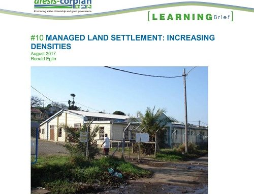 Learning Brief #10: Managed Land Settlement – Increasing densities