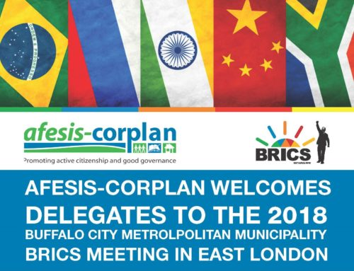 Afesis-corplan welcomes delegates to the 2018 BCMM BRICS Summit