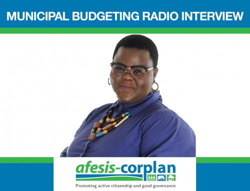 Radio Interview on Municipal Budgeting