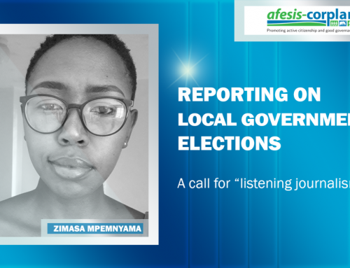 "Zimasa Mpemnyama: Reporting on local government elections – A call for ""listening journalism"""