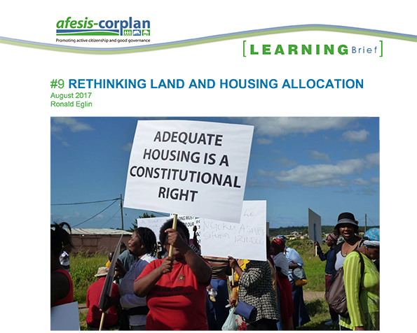 Learning Brief #9: Rethinking Land and Housing Allocation