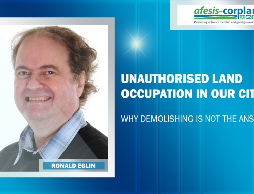 Ronald Eglin: Unauthorised land occupation in our cities – Why demolishing is not the answer