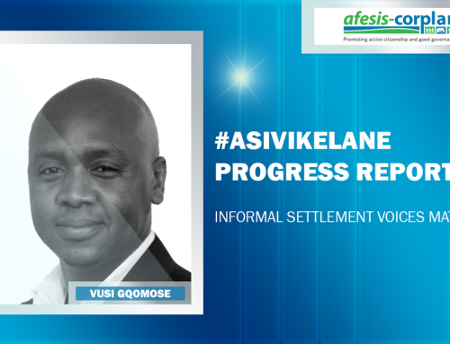 #ASIVIKELANE progress report – Informal settlement voices matter