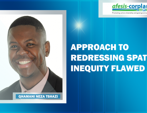 Qhamani Neza Tshazi: Approach to redressing spatial inequity flawed