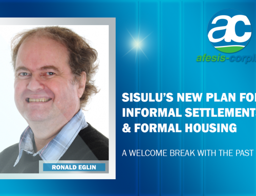 Ronald Eglin: Sisulu's new plan for informal settlements and formal housing a welcome break with the past