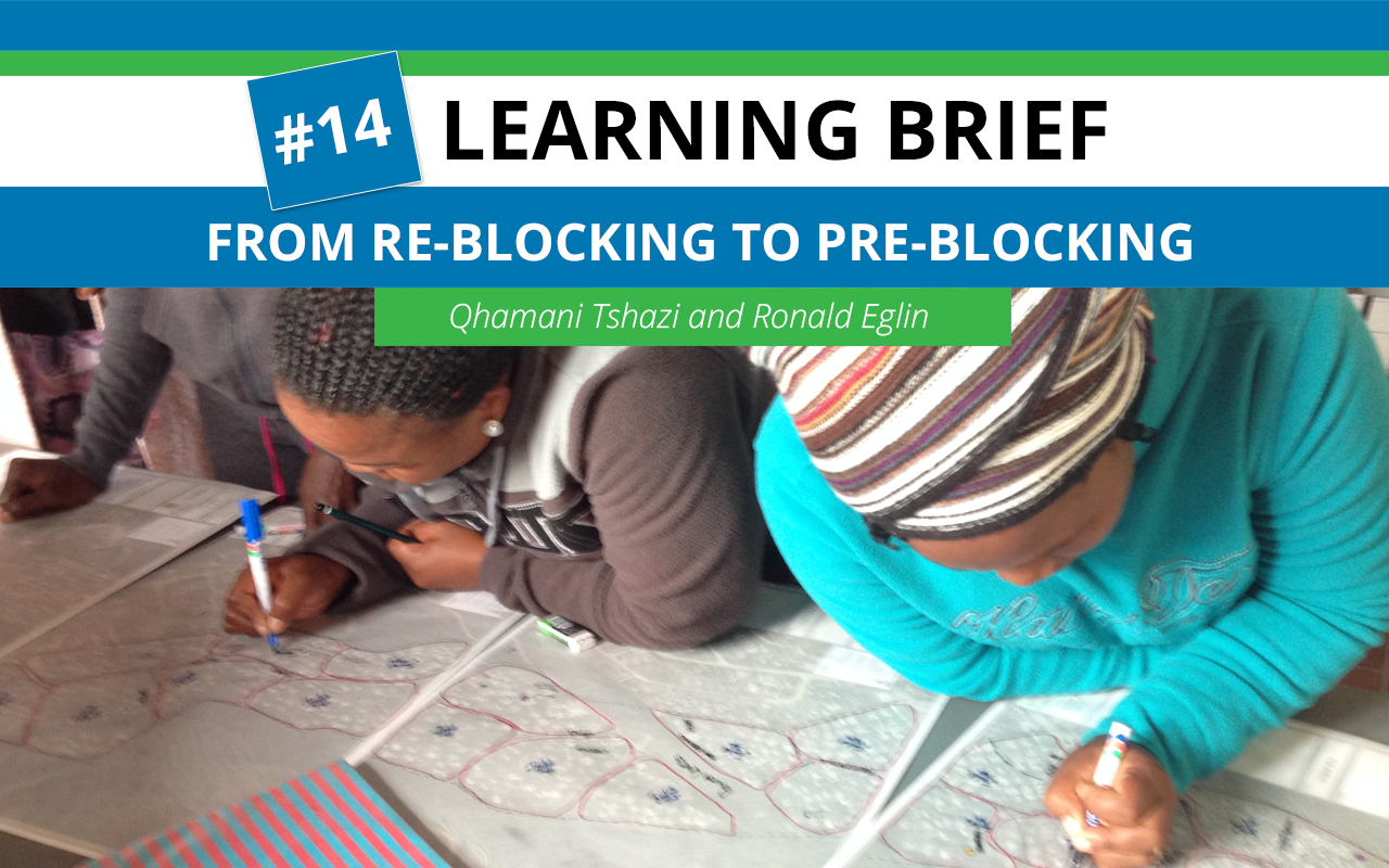 Learning Brief #14: From re-blocking to pre-blocking